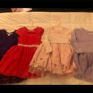 👧🏽 👗 Lot of 4 girls dresses size 5T